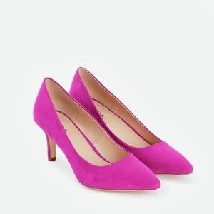 "JustFab NIB Fuchsia Pointed Toe Pump 2.5"" heel"